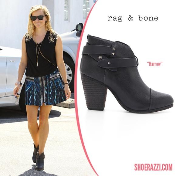 Rag Bone Womens Leather Black Harrow